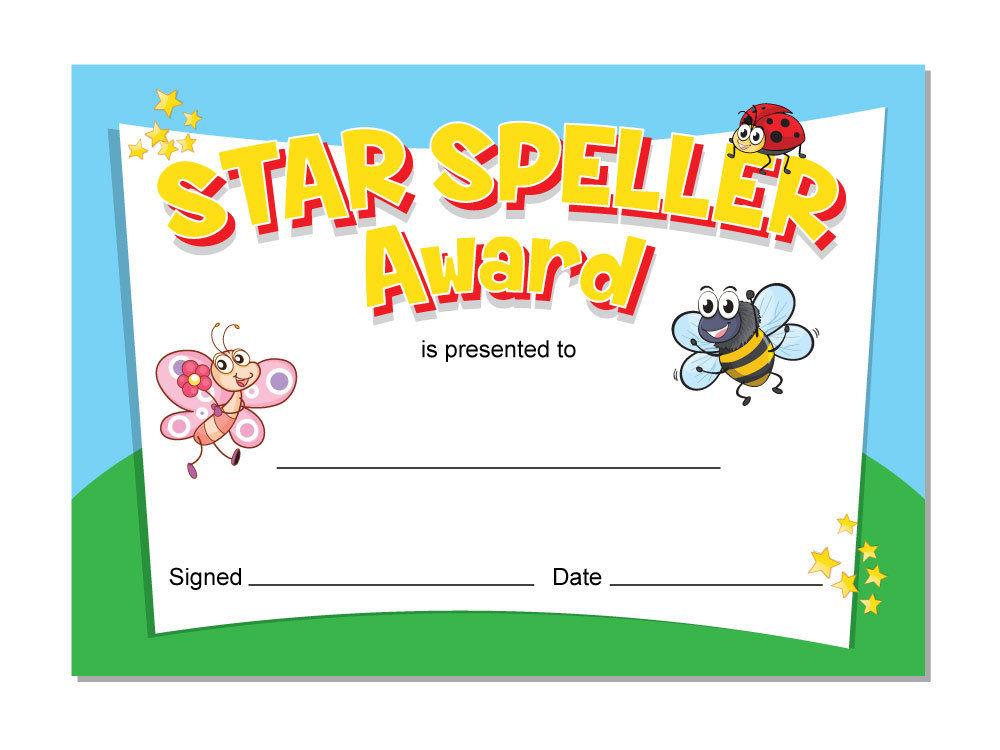u0026 39 spelling u0026 39  awards  u2013 16 x a6 cards  schools teachers  kids