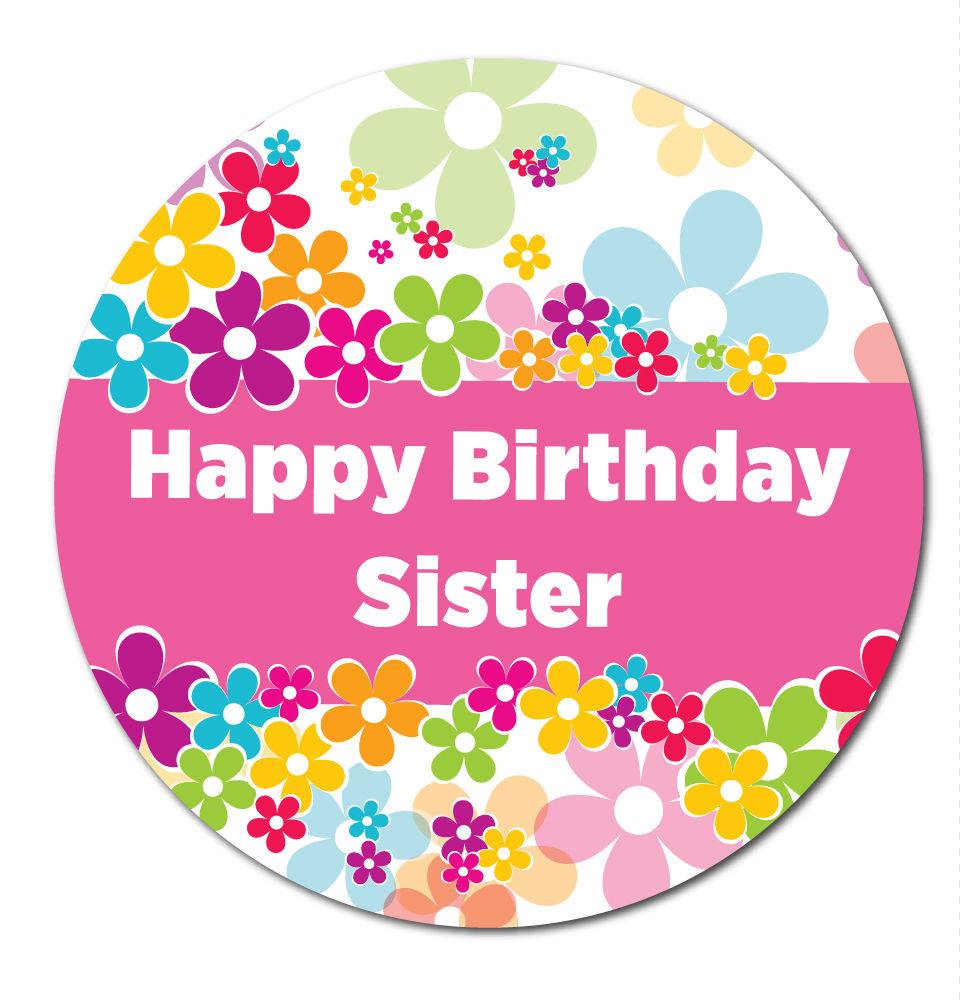 'Happy Birthday Sister' Stickers